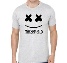 Mens Branded Marshmello Printed Tshirt Half Sleeve Round Neck 100% Cotton New