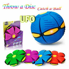 Novelty Flying UFO Flat Throw Disc Ball Toy Phlat Soft Kids Outdoor New