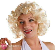 1950'S FILM STAR BLONDE CURLY WIG HOLLYWOOD CELEBRITY FANCY DRESS COSTUME HAIR