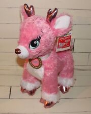 Build-A-Bear TWINKLE Merry Mission Pink Reindeer Stuffed New w/ Tags