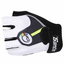 Santini Team Summer UCI Rainbow Road Racing Cycle Bike Mitts Gloves - Clearance