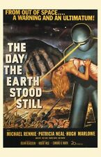 THE DAY THE EARTH STOOD STILL 1950'S SCIENCE FICTION FILM A3 or A2 FILM POSTER