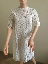NWT VALENTINO Flutter Sleeves White Lace Dress  38/2. $4299