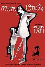 MON ONCLE JACQUES TATI A3 / A2 FRENCH FILM POSTER REPRINT