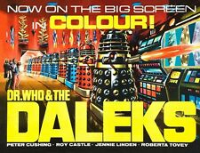 DR WHO & THE DALEKS 1965 SCIENCE FICTION FILM A3 / A2 POSTER REPRINT