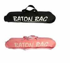 "GIRLS MAJORETTE TWIRLING BATON CARRYING BAG IN 24"" OR 32"" LENGTH (PINK OR BLACK)"