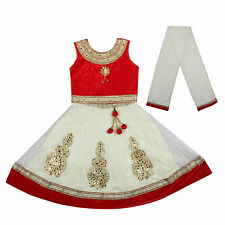 Kids dresses baby Clothing Designer embroidered Lehenga Choli 3 - 8 Years