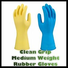 Heavy Duty Natural Rubber Latex Gloves Household Industrial Flock Washing Small