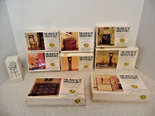NEW THE HOUSE OF MINIATURES KITS Lot of 8 Dollhouse Furniture Sets