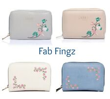LADIES GIRLS EMBROIDERED PURSE WALLET  COIN PURSE BY FABLE NEW IN GIFT IDEA