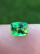 NATURAL KENYA GARNET TSAVORITE CUSHION 0.83 CT CERTIFIED GEMSTONE