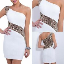 Sexy Women's Sleeveless Bodycon Mini Dress Casual Sequins Cocktail Party Dress