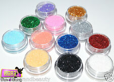 12 COLOURS NAIL ART TIPS GLITTER POLVERE POLVERE ACRILICA TRUCCO DECORAZIONE UK