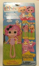 LALALOOPSY Magnetic Paper Dolls Set #1 CRUMBS SUGAR COOKIE  SPOT SPLATTER SPLASH