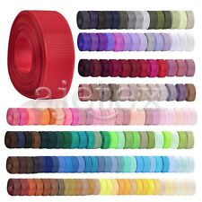 10 Meters Grosgrain Ribbon 6/10/15/20/25/38mm Craft Bow Wedding DIY 40 Colors IF