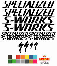 Specialized S-Works Replacement Frame New Style Vinyl Decals Stickers MTB Road