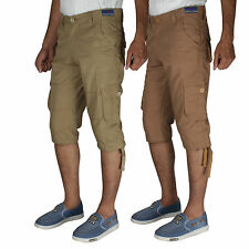 BlackCoal Mens Capri (COMBO) 6 Pocket Cargo Cotton 3/4 Shorts MASR9798
