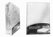 Luxury Quilted MICRO PERCALE Mattress Protector Fitted Sheet Bed Cover All Sizes