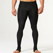 2XU Elite Recovery Mens Black Fitness Training Compression Tights Bottoms Pants