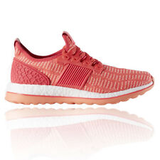 Adidas PureBOOST ZG Womens Pink Orange Cushioned Running Shoes Trainers