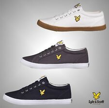 New Mens Branded Lyle And Scott Casual Canvas Lace Up Pumps Trainers Size 6-12