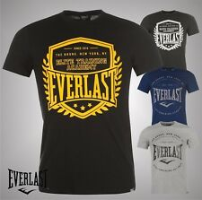 Mens Branded Everlast Short Sleeves Large Logo Printed T Shirt Top Size S-XXXXL
