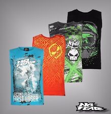Mens Branded No Fear Soft Cotton Large Graphic Printed Vest Crew Top Size S-XXL