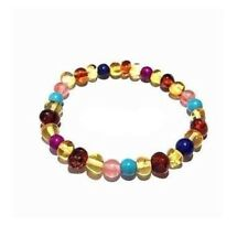 Adult Blossom Honey Baltic Amber Howlite Lapis Lazuli Quartz Bracelet Love Amber