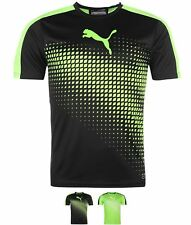 MODA Puma Evo Train Tee Shirt Mens Green/Black