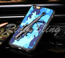 3D PHONE CASE MACHINE GUN PHONE CASE NAVY CAMOUFLAGE PHONE COVER FITS IPHONE 6/S
