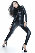 COQUETTE D991 Ladies Sexy Catsuit Wetlook Overall Jumpsuit Body GOGO Lacquer