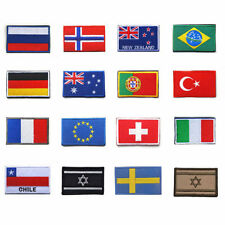 National Country Flag Patch Plain Embroidered Iron/Sew On Badge Applique 6x4cmUK