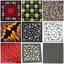 Japanese Flag Peace Signs Smiley Faces Ying & Yang Bandana Head Scarf Neck Scarf