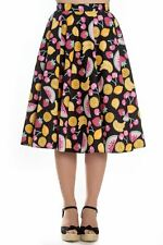 Hell Bunny Tutti Frutti 50s Vintage Swing Skirt with Pockets XS - 4XL