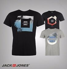 Mens Branded Jack And Jones Bold Graphic Print Core Hemis T Shirt Top Size S-XXL