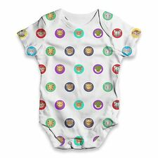 Zoo Animals Dots Pattern Baby Unisex Funny ALL-OVER PRINT Baby Grow Bodysuit