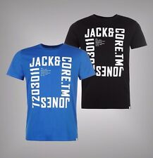 Mens Branded Jack And Jones Short Sleeves Core Wall T Shirt Crew Top Size S-XXL