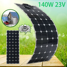 140W 23V Flexible Solar Panel Battery Charger w/1.5m Cable For Boat Caravan Home