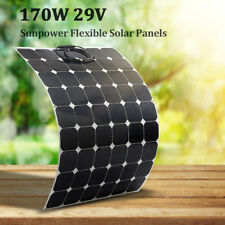 170W 29V Flexible Solar Panel Battery Charger w/1.5m Cable For Boat Caravan Home