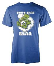 BNWT DON'T CARE BEAR CUDDLY CARTOON SMOKING LAZY BEAR  KIDS T SHIRT 3-15 YEARS
