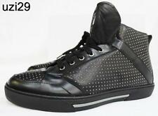 Versace Collection by Versace Black Hi-Top Sneakers Metal studded Calf leather