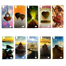 Designer Printed Silicon Back Cover Case For Reliance LYF Water 4