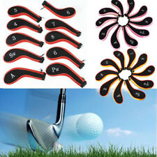 4 Colors 10 Pcs Sleeve Golf Club Iron Headcovers Head Cover Protect Set Case