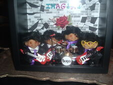 Vintage Beatles style rooted tab back troll dolls (lot of 4)