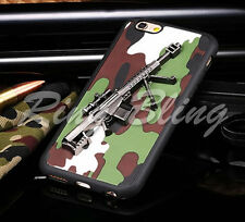 IPHONE 6 6S MOBILE CASE REPLICA MACHINE GUN ARMY CAMOUFLAGE PHONE COVER 60% OFF!