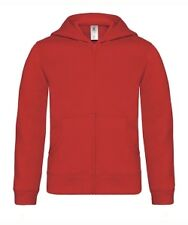Sweat-shirt enfant zippé à capuche - ROUGE - Hooded full zip kids