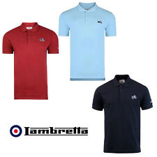 Lambretta Polo Scooter Logo Short Sleeve Polo Shirt Mens 3 colours