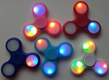 3 MODE LED ON/OFF SWITCH JOB LOT FIDGET FINGER SPINNER HAND SPIN STRESS TOY