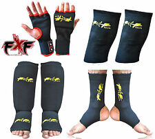 FXF GEL PADDED SHIN INSTEP FOOT GUARD ANKLE STRAP ELASTIC KNEE SUPPORT