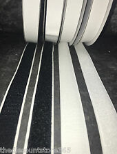20mm Wide Hook and Loop Self Adhesive Sticky Backing Tape~Various Lengths